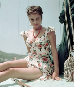 Sophia Loren Vintage Icon wolf willow fashion style blog inspiration dress floral era starlet actress beauty